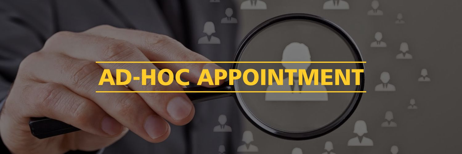 Ad-Hoc Appointment
