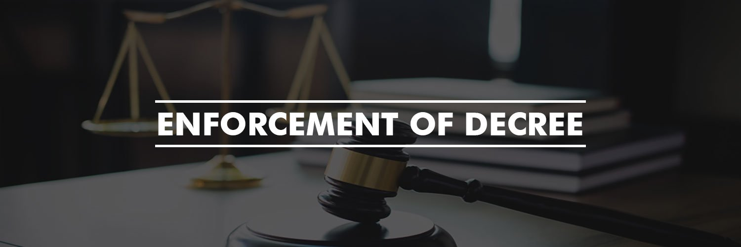 Enforcement of Decree