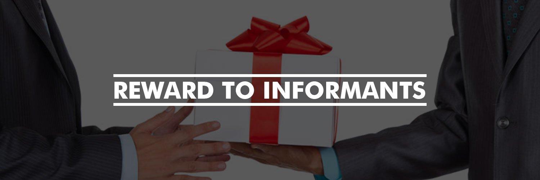 Reward to informants
