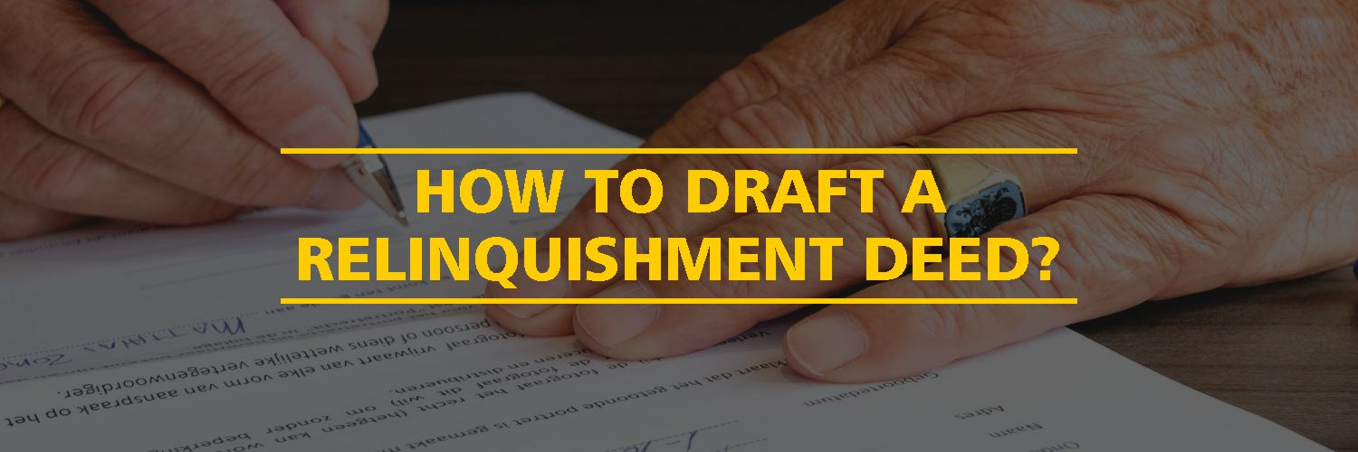 Sample Format of a Relinquishment Deed