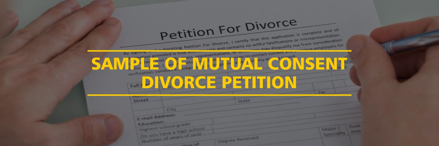 Sample of Mutual Consent Divorce Petition