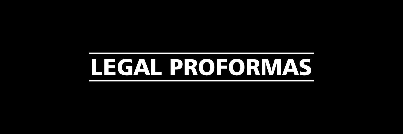 Legal Proformas