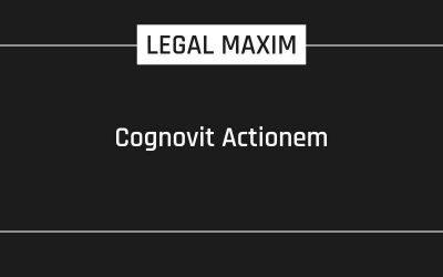 Cognovit Actionem