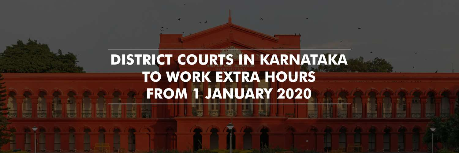 New year resolution for District Courts in Karnataka