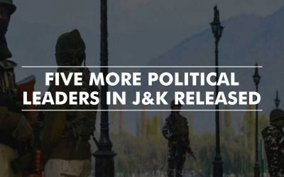 Five more political leaders in J&K released from detention