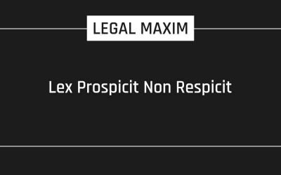 Lex Prospicit Non Respicit