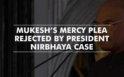 Nirbhaya Convict – Mukesh's mercy plea rejected by President