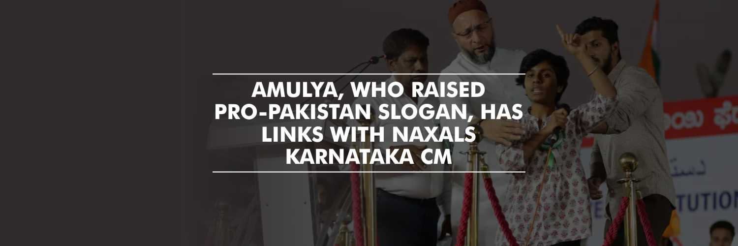 Student who raised pro-Pakistan slogan, has links with Naxals – Karnataka CM