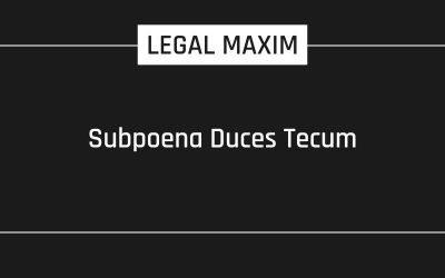 Subpoena Duces Tecum