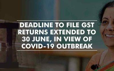 Coronavirus crisis extends the deadline to file GST returns to 30 June