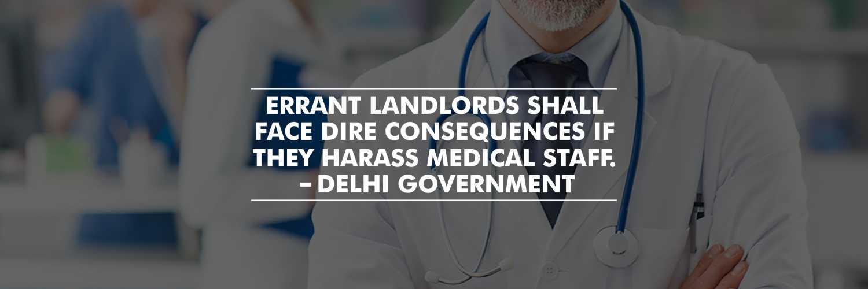 Strict action against errant landlords for harassing medical staff to leave – Delhi Government