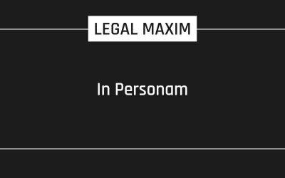 In Personam