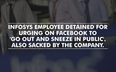 'Sneeze in Open, Spread the Virus'; Infosys employee detained in Bengaluru for a Facebook post