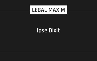 Ipse Dixit