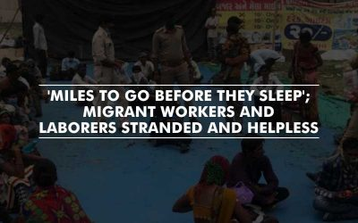 Helpless Migrant workers walk back to their native, amid COVID-19 lockdown