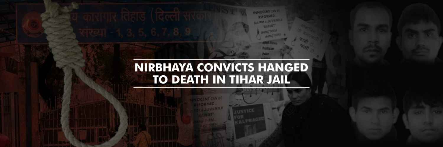Four convicts in the Nirbhaya case hanged to death