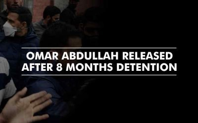 Omar Abdullah, finally a free bird after 8 months. Oops, now the state is locked down.