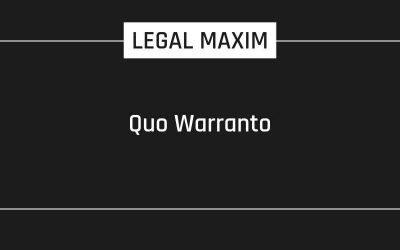 Quo Warranto