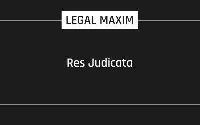 Res Judicata