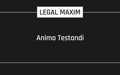 Animo Testandi