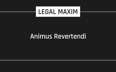 Animus Revertendi