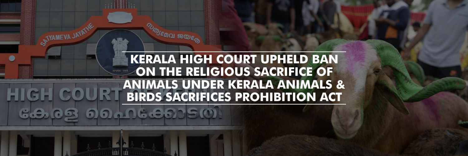 Kerala High Court Upheld Ban on the Religious Sacrifice of Animals Under Kerala Animals and Birds Sacrifices Prohibition Act