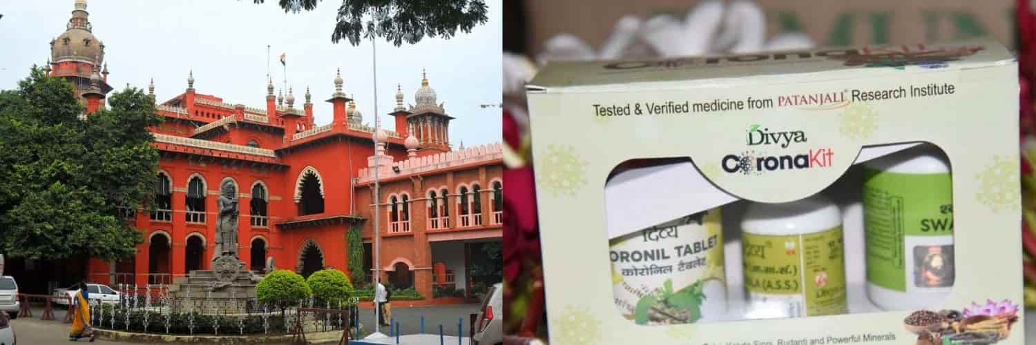 "Madras High Court restrained Patanjali Ayurved Ltd from using the trademark ""Coronil"""