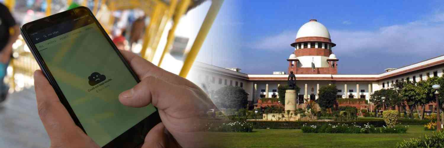 Supreme Court Seeks Centre's Reply on Contempt Plea Over 4G Internet Restrictions in J&K