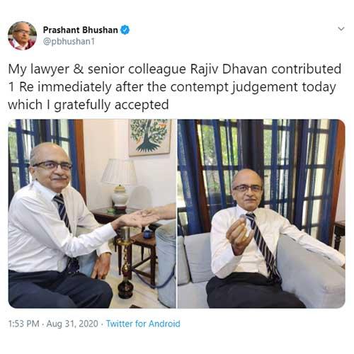 Prashant Bhushan Tweet
