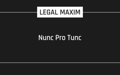 Nunc Pro Tunc