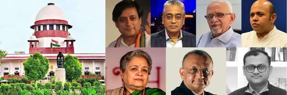 SC Stays Arrest of Shashi Tharoor, Rajdeep Sardesai And Others Over 'Misleading' Tweets