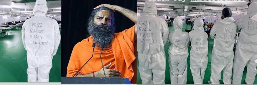 IMA Vs Baba Ramdev: Allopathy Doctors Staged Protests Against Baba Ramdev, Observed June 1 As Black Day