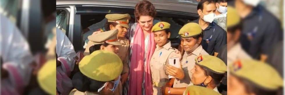 UP Police To Take Action Against Women Constables Who Clicked Selfies With Priyanka Gandhi
